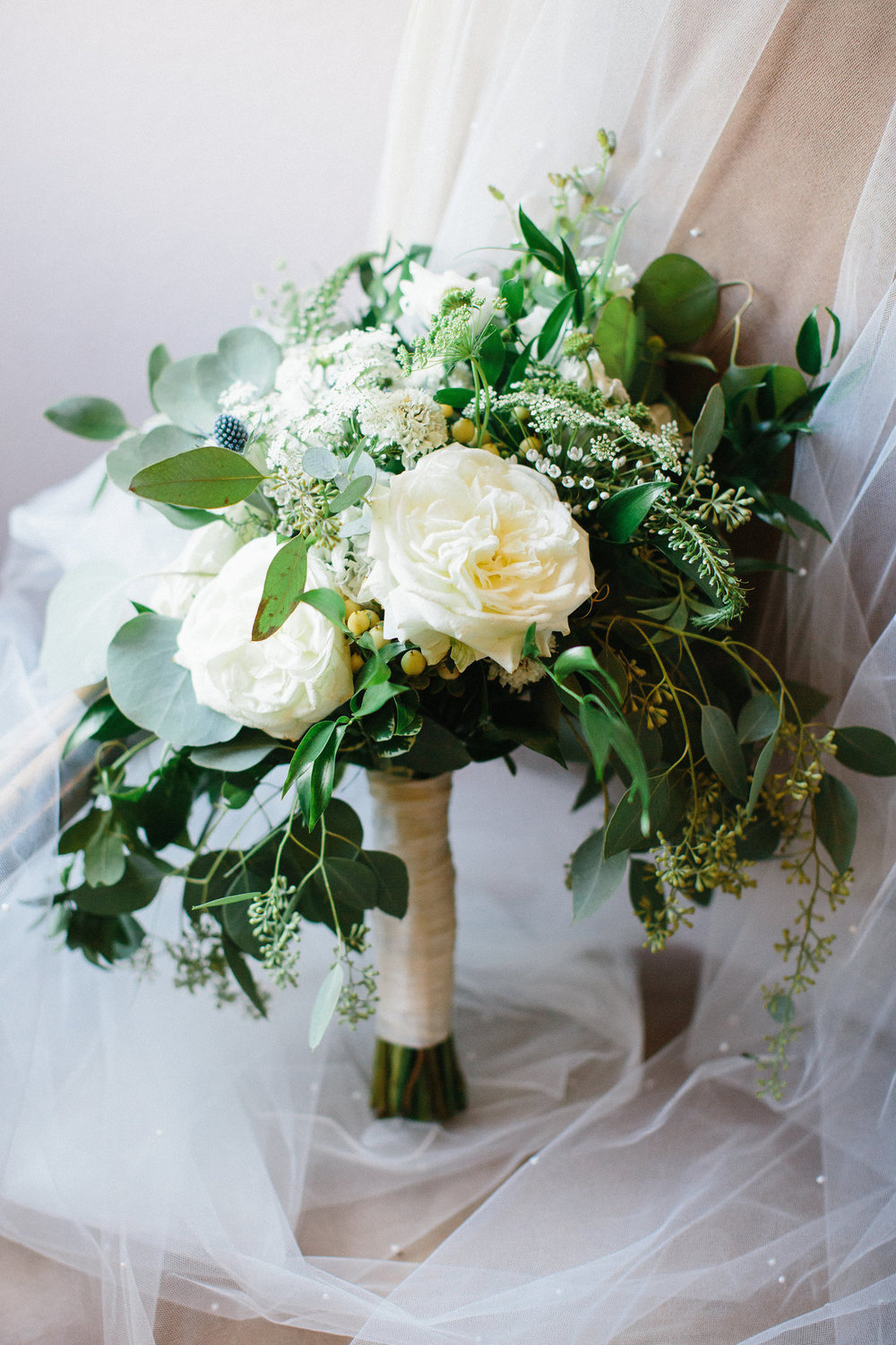05. Organic bouquet-garden rose & eucalyptus. Erin WIlson Photography. Rose of Sharon Floral Designs..jpg