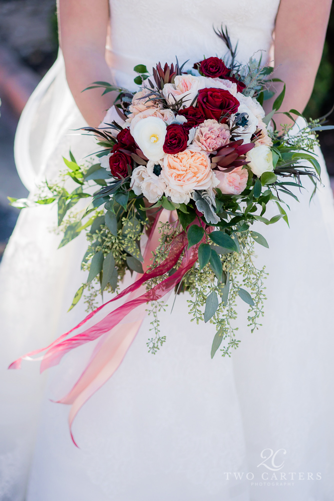 02. Two Carters Photography. Most Joyful Day. Rose of Sharon Floral Designs.  Blush, Peach & Burgundy Wedding..jpg