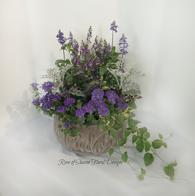 Small Purple Mixed Garden Planter