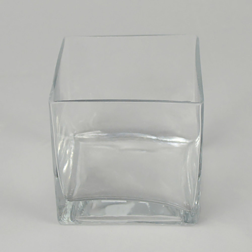 "4"" & 4"" glass cube"