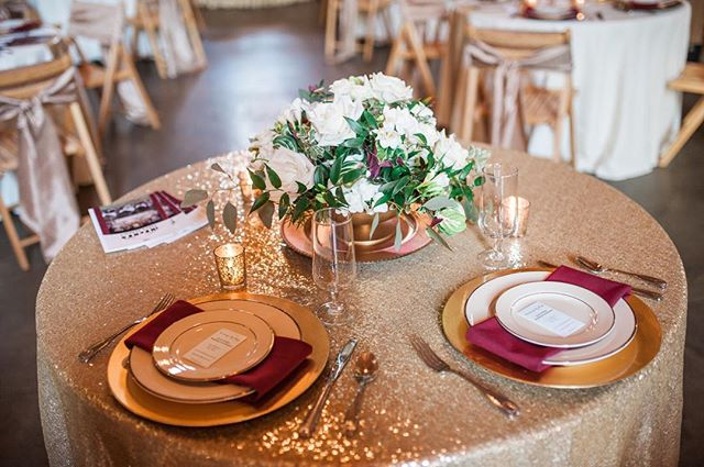 Simply Bliss Photography - white & gold centerpiece