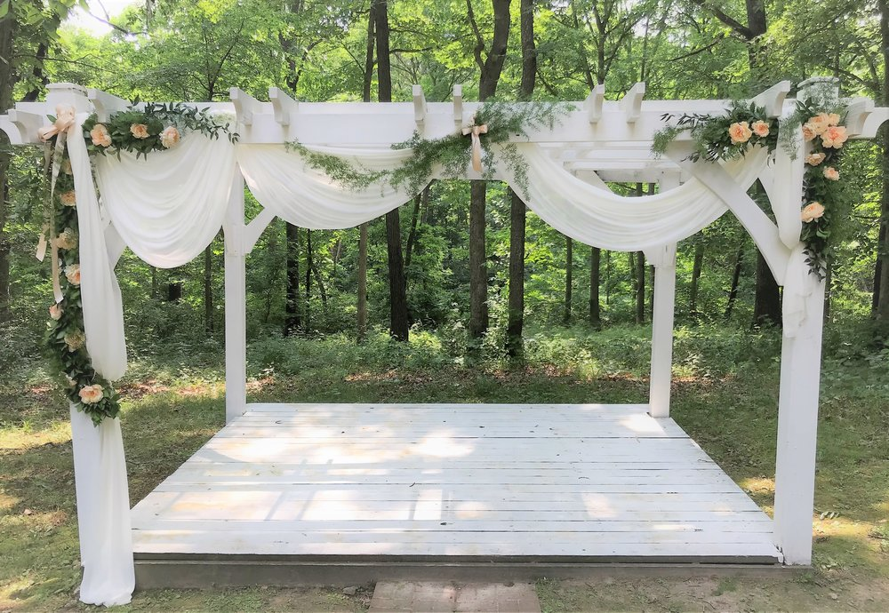 White wedding arbor