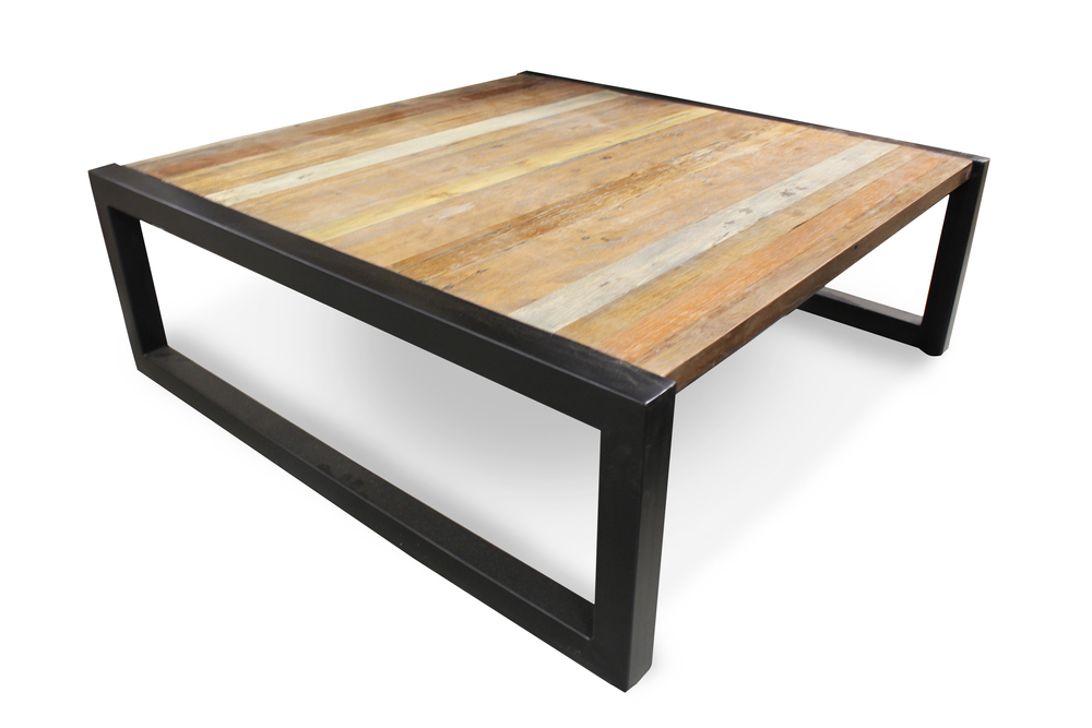Metal Frame Reclaimed Teak Coffee Table