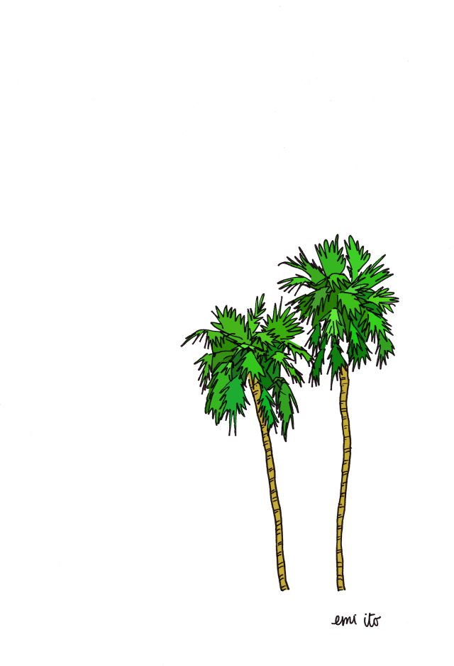 palm trees - emi ito illustration