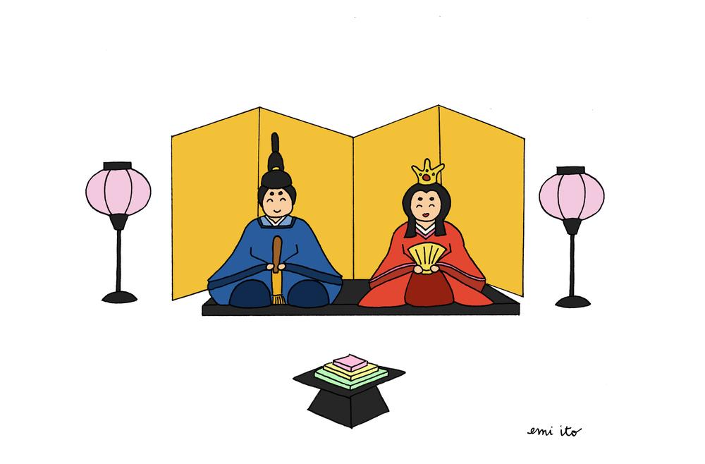hinamatsuri - emi ito illustration
