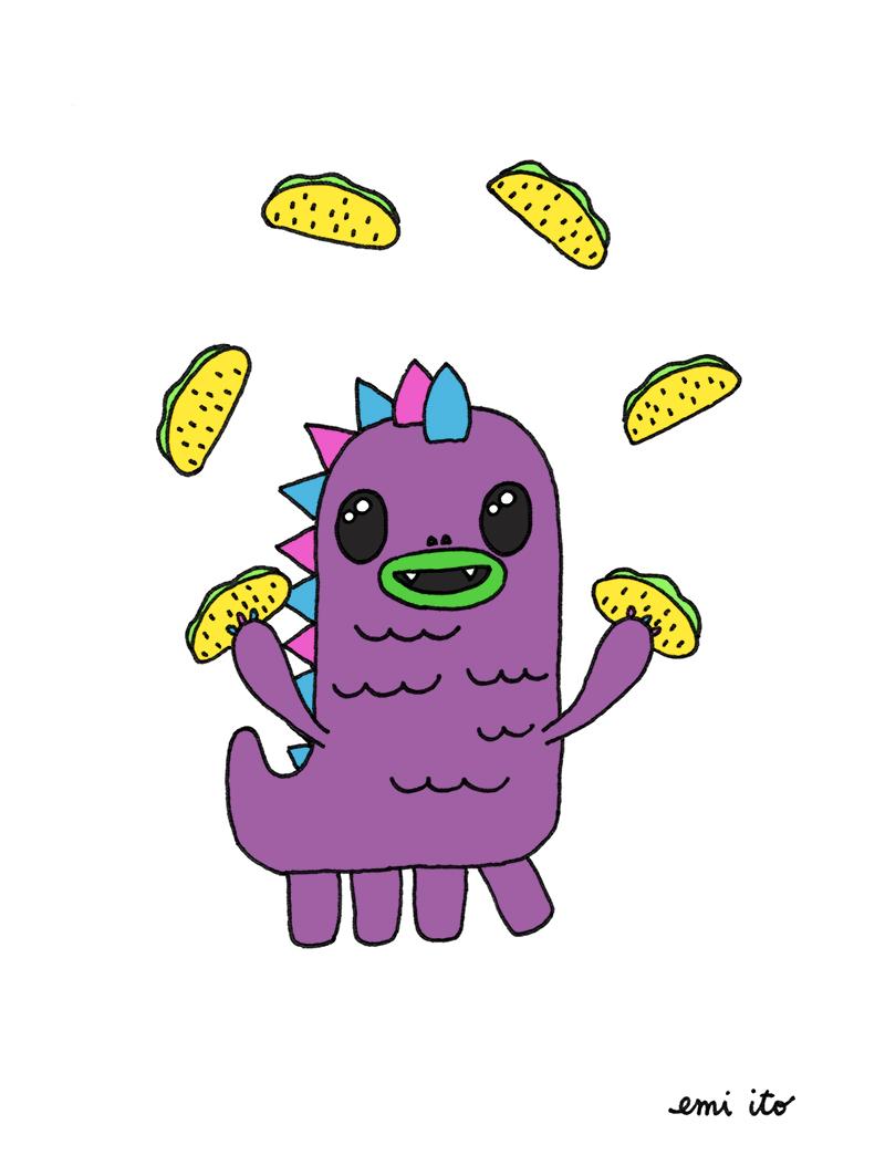 puff - so so happy - emi ito illustration