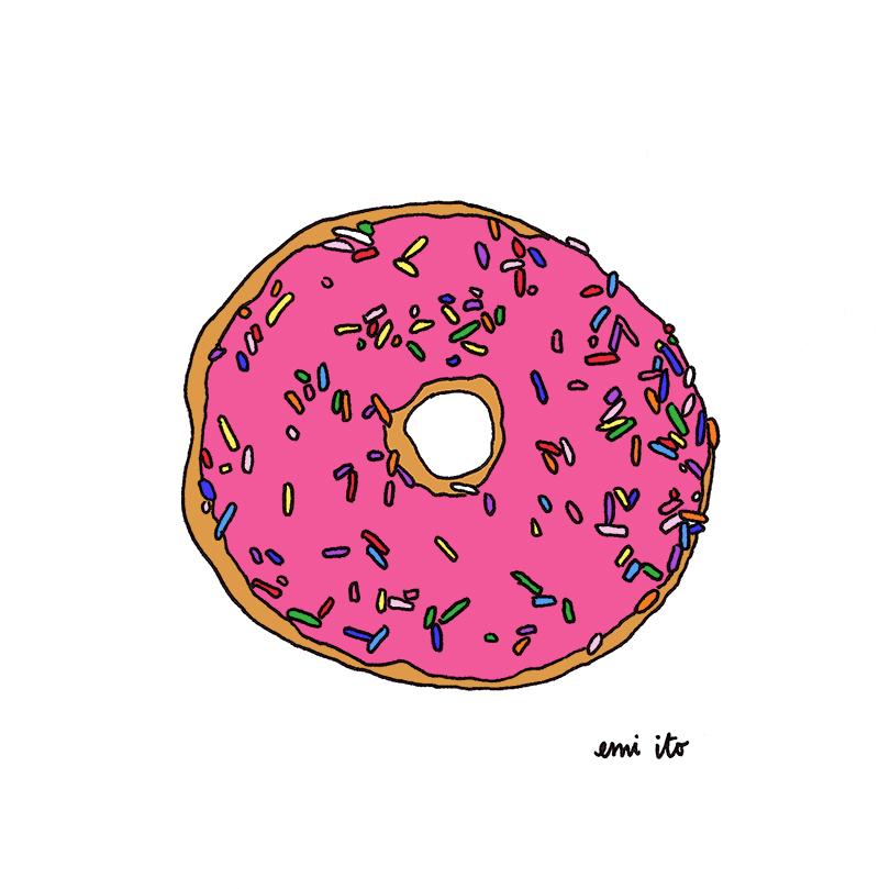 donut - emi ito illustration