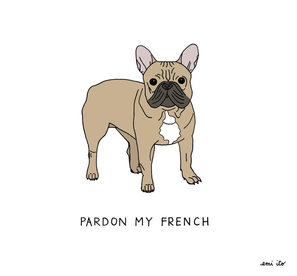 pardon my french - emi ito illustration