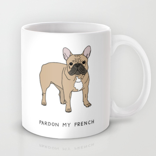 Pardon My French Mug - emi ito illustration