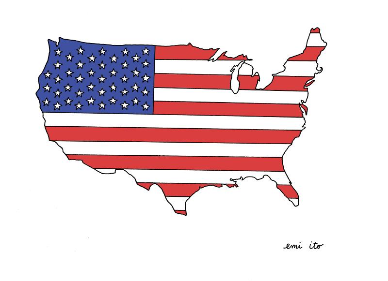 USA - emi ito illustration
