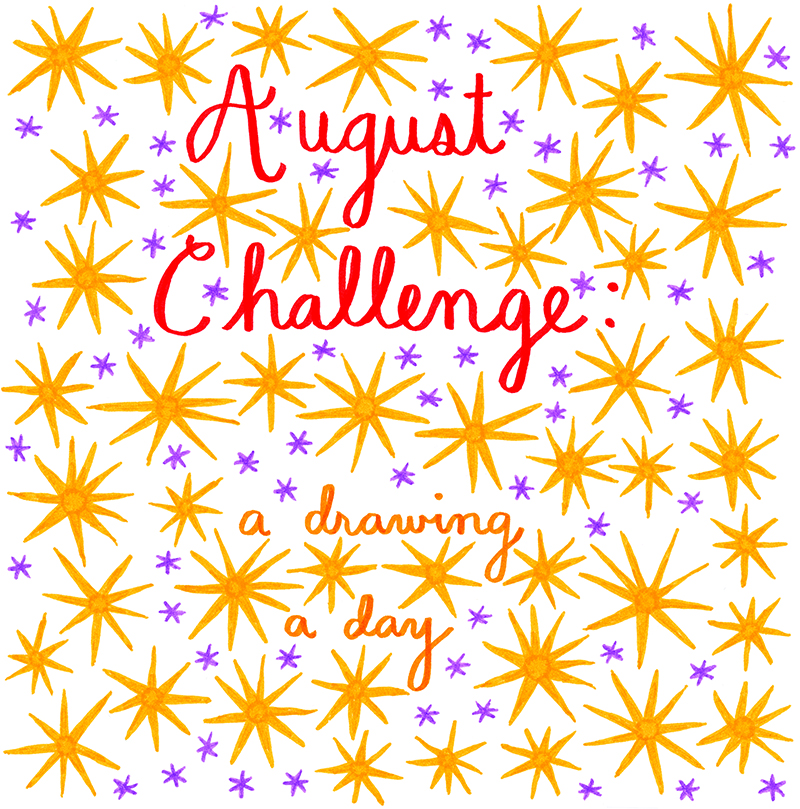 august challenge - a drawing a day - emi ito illustration