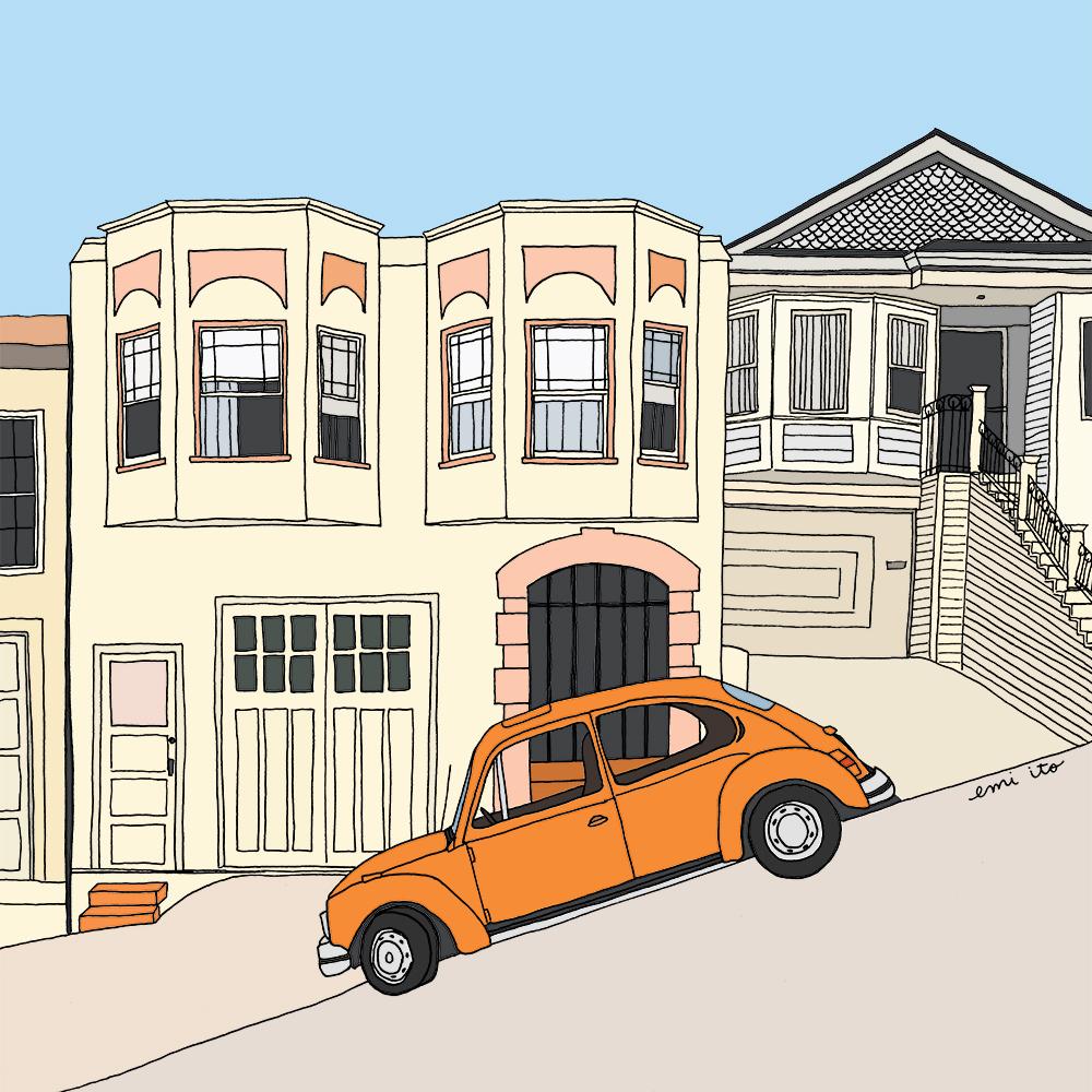See San Francisco - emi ito illustration