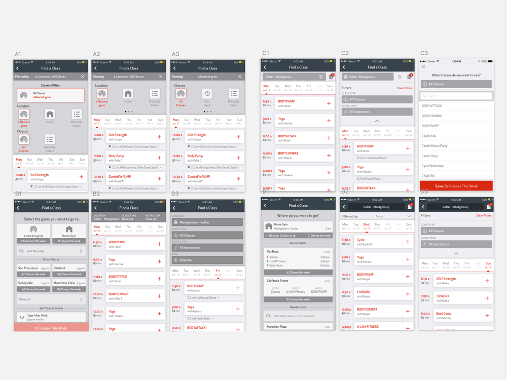 Iterations on choosing a location up front and a new UX for filtering.