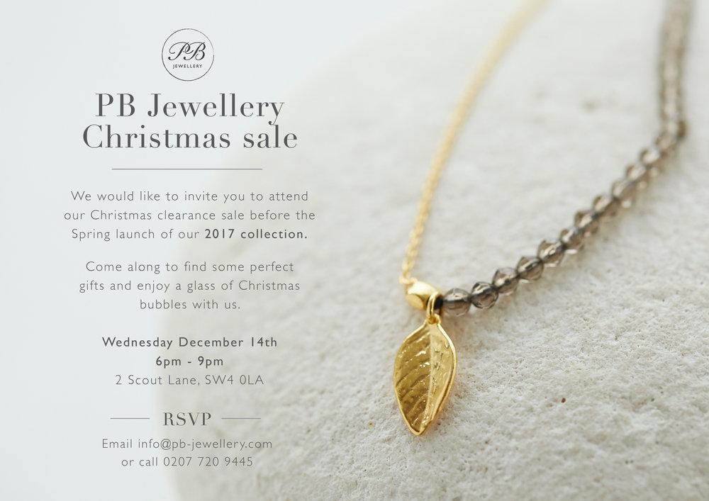 PB Jewellery Christmas Sale! — Design by White