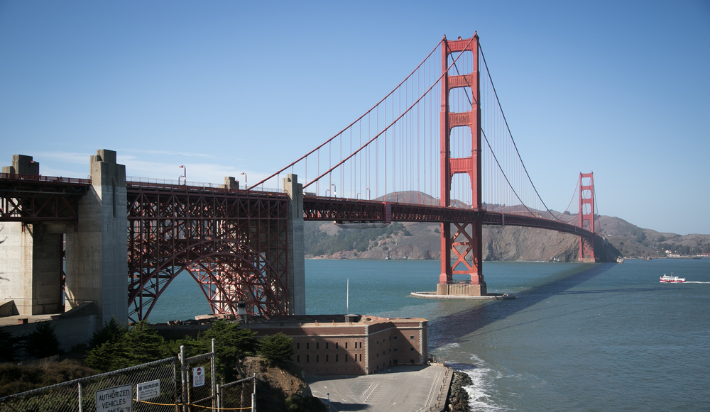 Golden Gate Bridge, San Francisco. California.