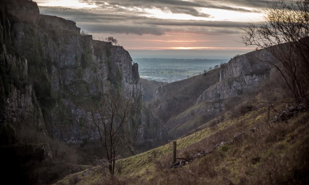 Cheddar Gorge, Cheddar. Somerset.