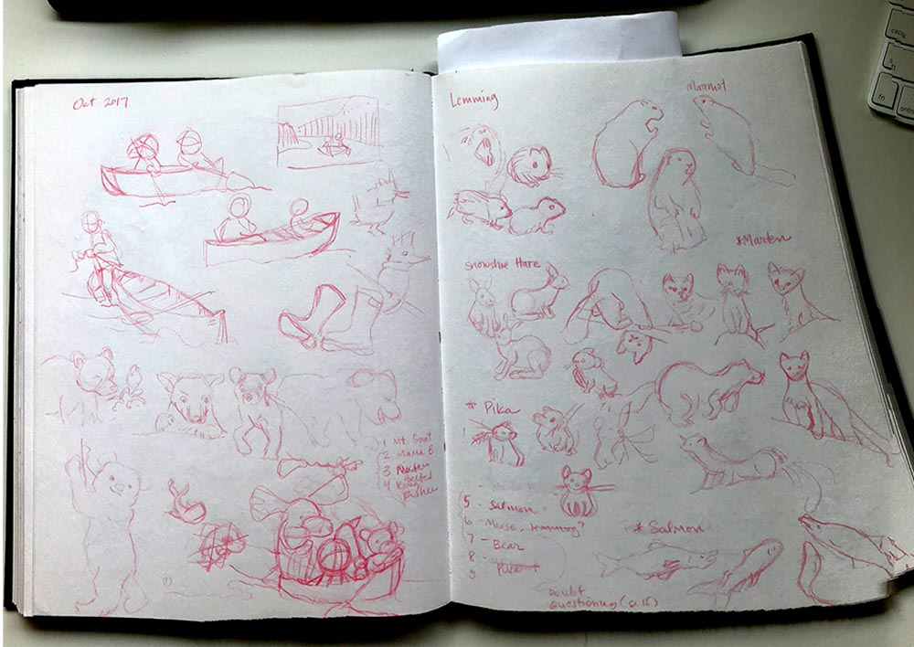 Early sketches for the project.