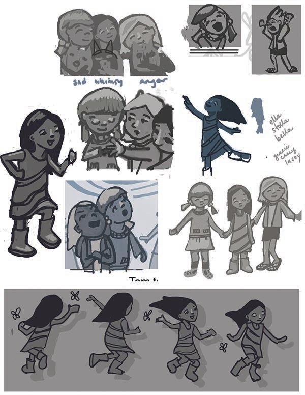 Sketches from the project.