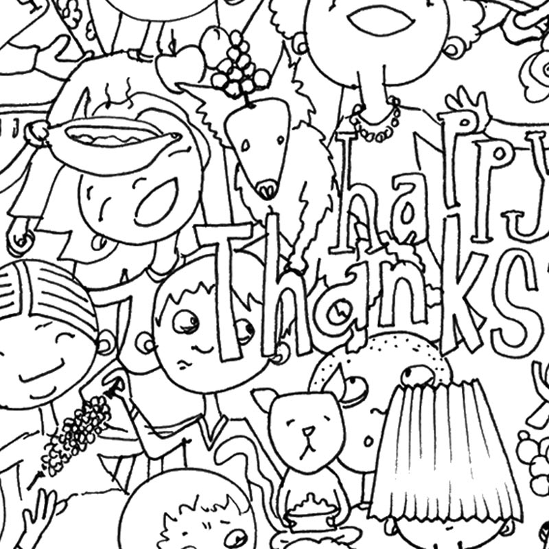 Happy Thanksgiving. Family talking politics over diiner? Calm your nerves with this coloring page.