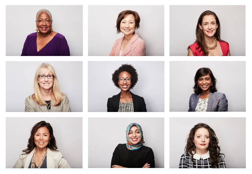 Some of the faces from the day's shoot at the United State of Women conference.
