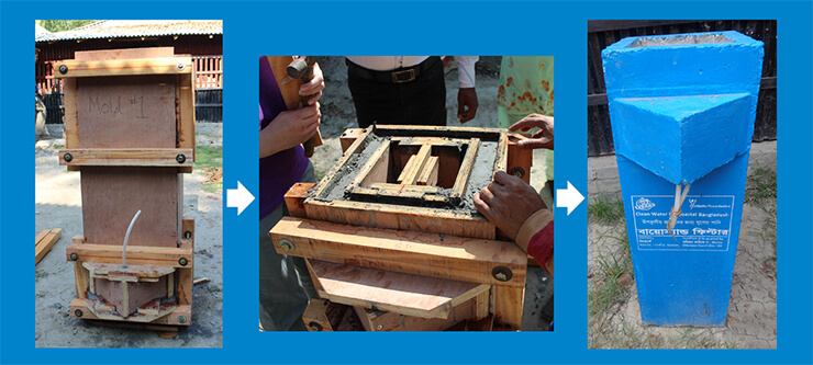 Our award winning Wood Mold allows local organizations to manufacture concrete BioSand Filters locally, and for a fraction of the upfront costs of traditional methods, meaning more people can get clean water faster.