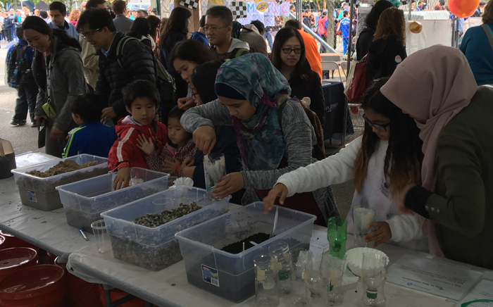 "Our Make-Your-Own Water Filter Station was awarded a prestigious Make Magazine Editors' Choice Red Ribbon for ""Excellence in Education"" at the 2016 World Maker Faire! During the 2 day event in New York City around 700 kids made their own water filters."