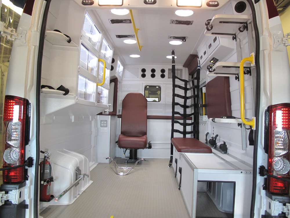 Ergonomic and spacious Malley-designed Crossover Ambulance