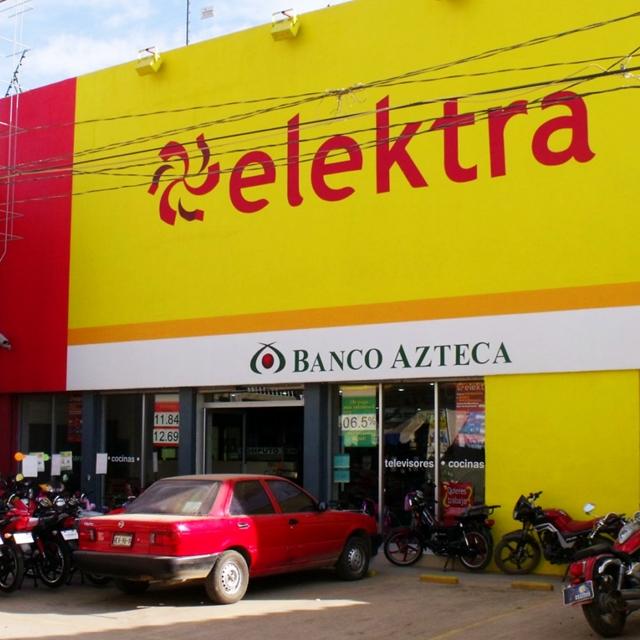 """Grupo Elektra and Banco Azteca, a """"retailer"""" bank."""