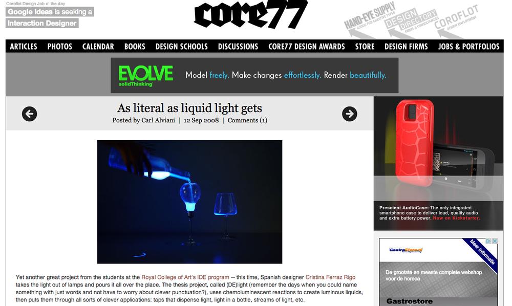 (DE)light in Core77
