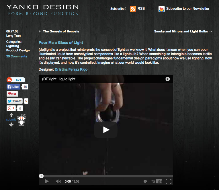 (DE)light in Yanko Design