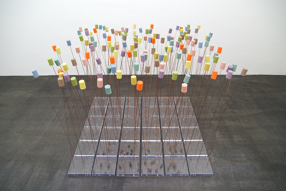 "boden-installation ""recycling I""  - 140 x 140 cm (variabel)"