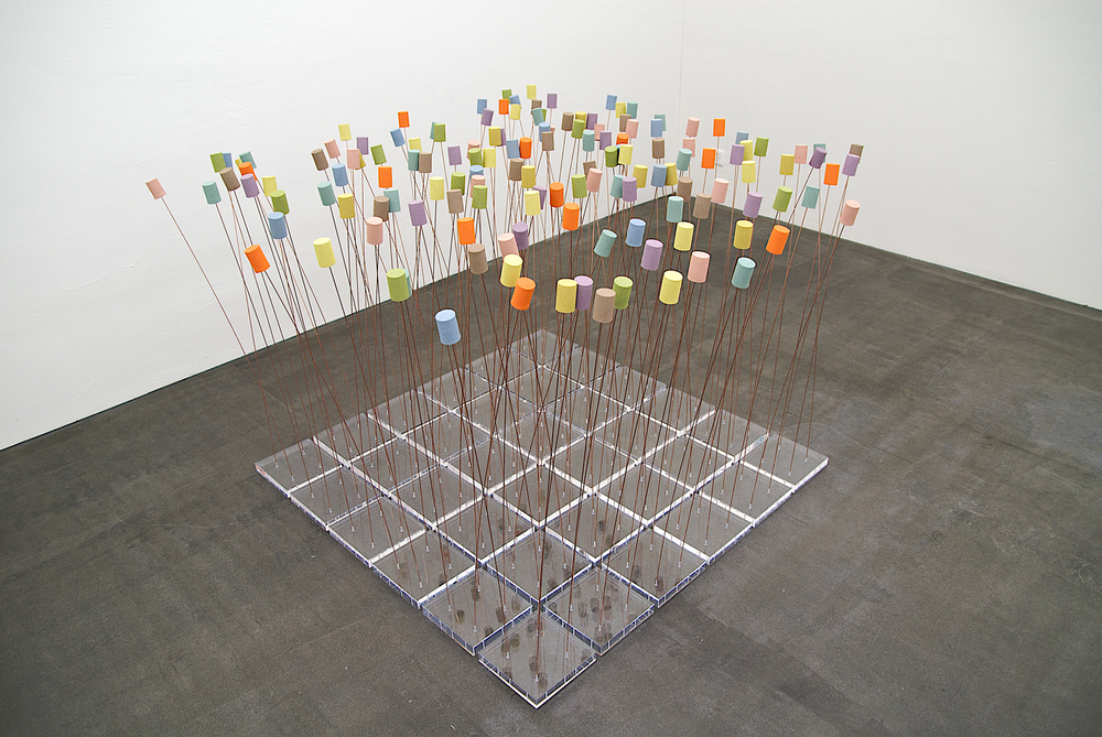 "boden-installation nr. ""recycling I""- 140x 140cm (variabel)"