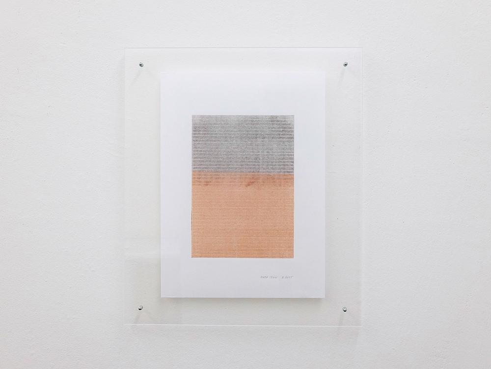 monotypie nr. 01/2015- 21x 15cm - öl auf japanpapier in acrylglasrahmen