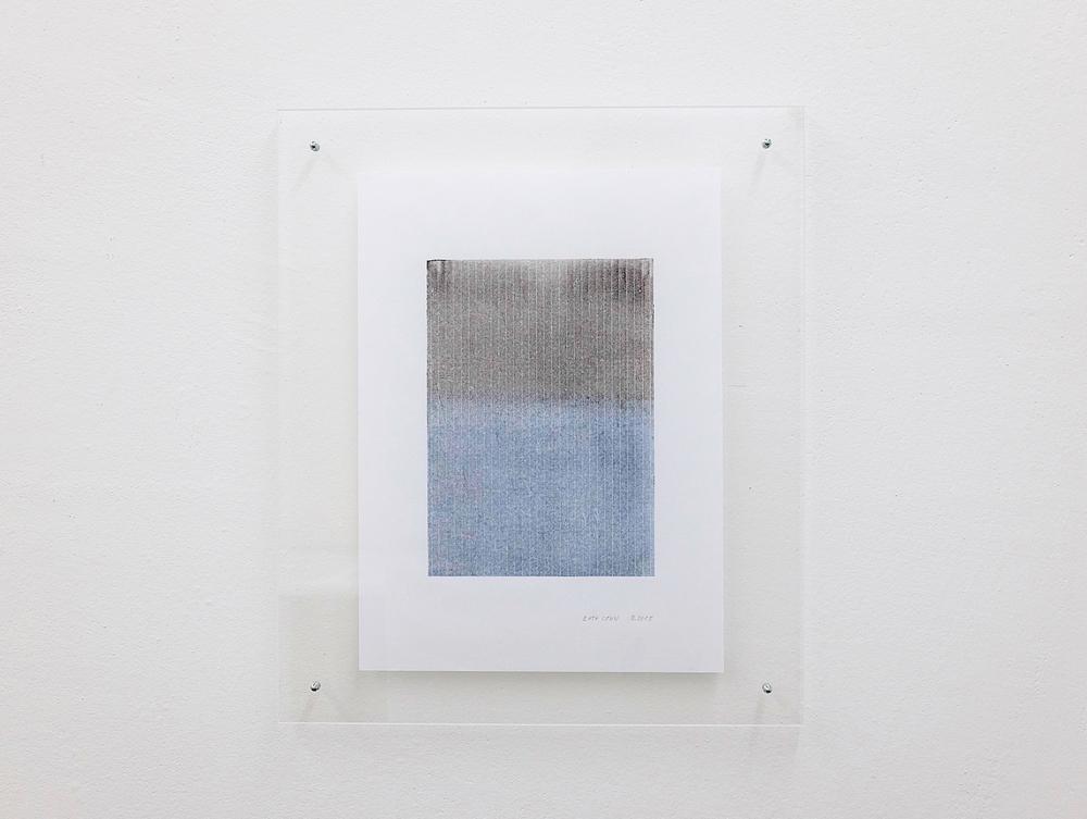 monotypie nr. 02/2015- 21x 15cm - öl auf japanpapier in acrylglasrahmen
