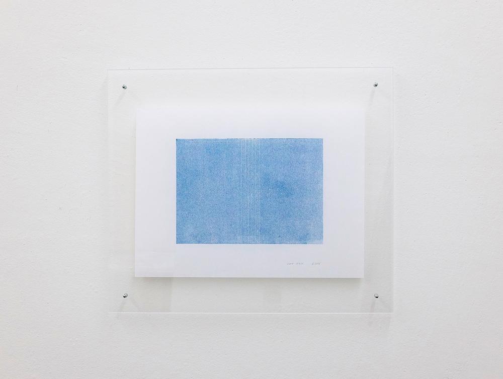 monotypie nr. 04/2015- 15x 21cm - öl auf japanpapier in acrylglasrahmen
