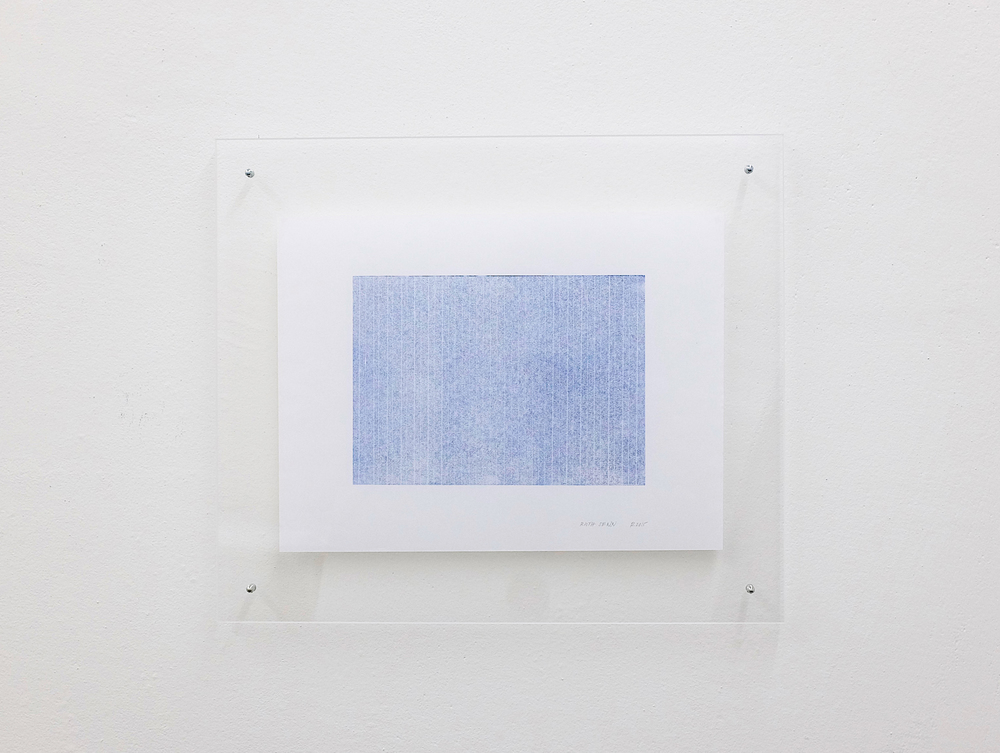 monotypie nr. 06/2015- 15x 21cm - öl auf japanpapier in acrylglasrahmen