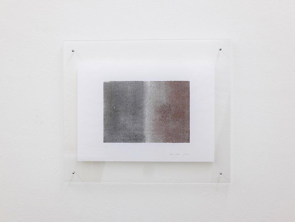 monotypie nr. 08/2015- 15x 21cm - öl auf japanpapier in acrylglasrahmen