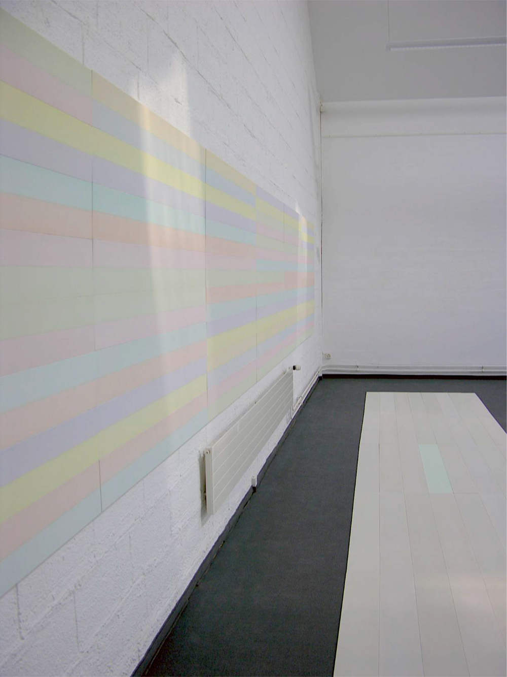 wand/boden-installation nr. 05/2006  - 2 x 140 x 840 cm (variabel)
