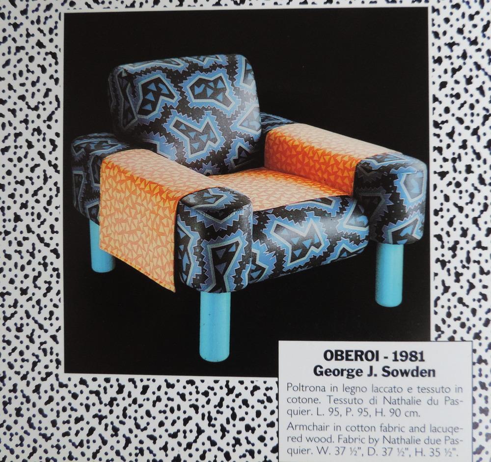 Oberoi Chair for Memphis Milano 1981. Image: (c) Mempis Milano 1991