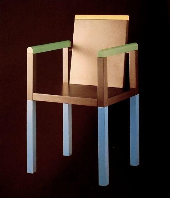 Palace Chair for Memphis Milano 1983. Image: (c) Memphis Milano