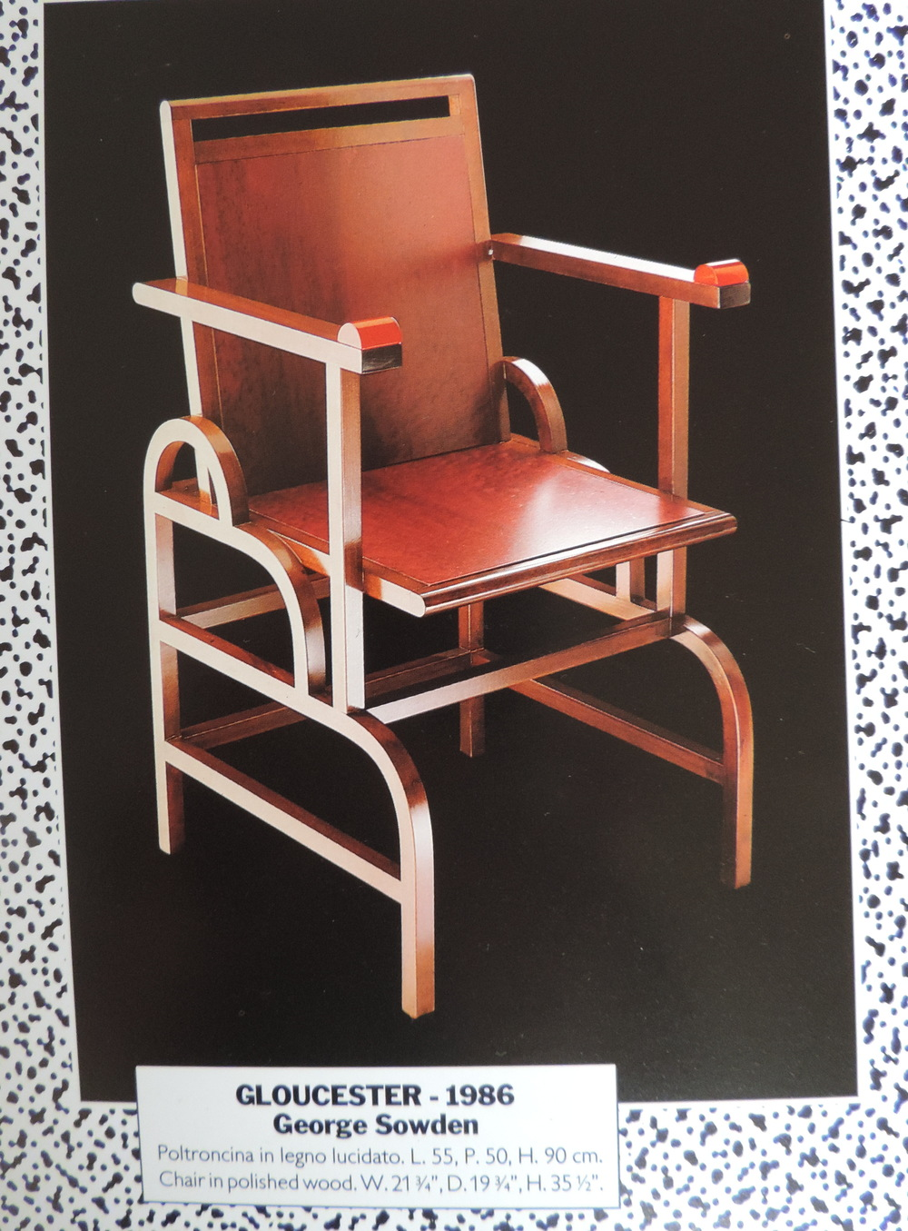 Gloucester Chair for Memphis Milano 1986. Image: (c) Memphis Milano 1981