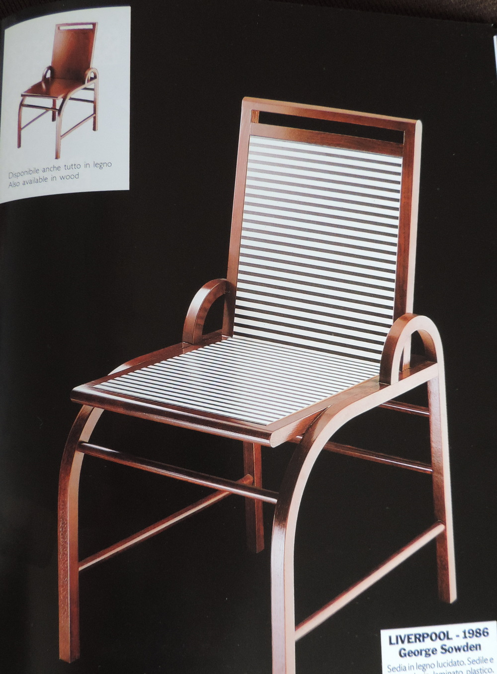 Liverpool Chair for Memphis Milano 1986. Image: (c) Memphis Milano 1991