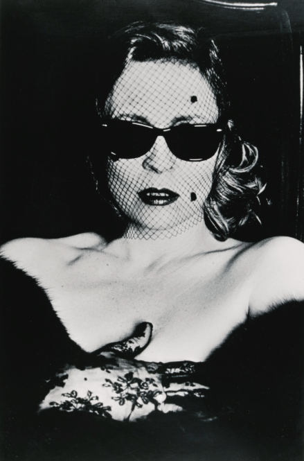 Helmut Newton:'FAYE DUNAWAY WITH VEIL AND SUNGLASSES', HOLLYWOOD, 1987