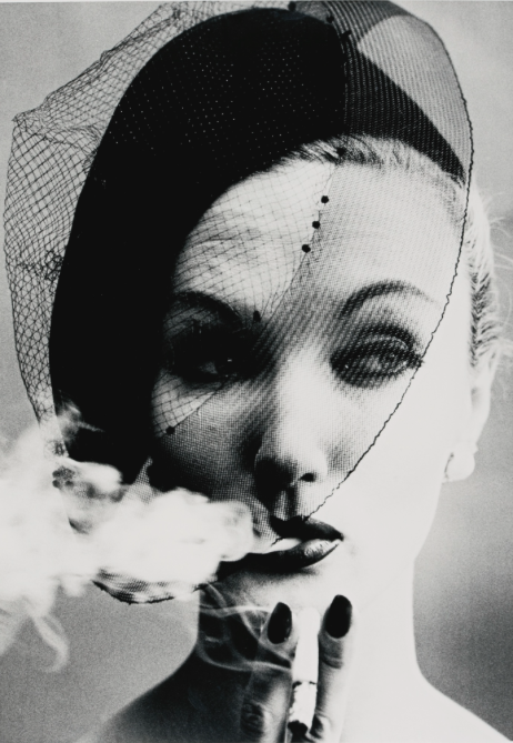 William Klein:'SMOKE AND VEIL, PARIS (VOGUE)', 1958
