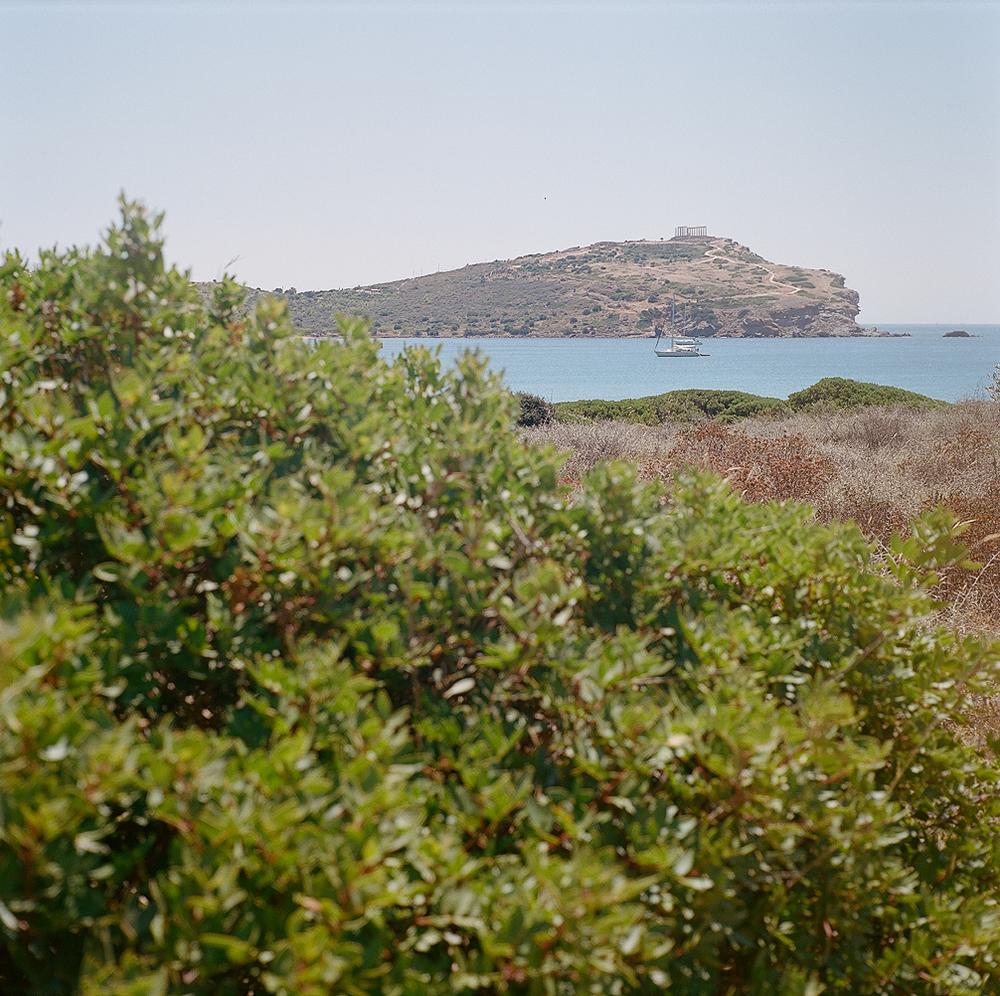 View to Temple of Poseidon, Cape Sounion, Greece