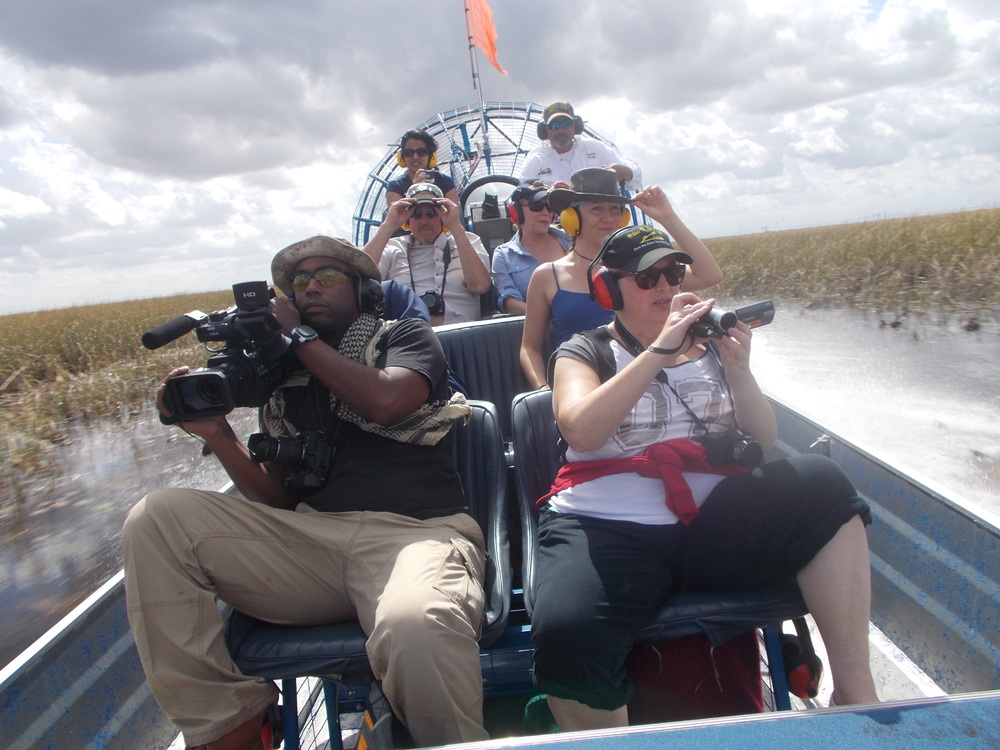 Some new faces join with the regulars on a warm-up tour of the Everglades.  2015 will be a busy year.