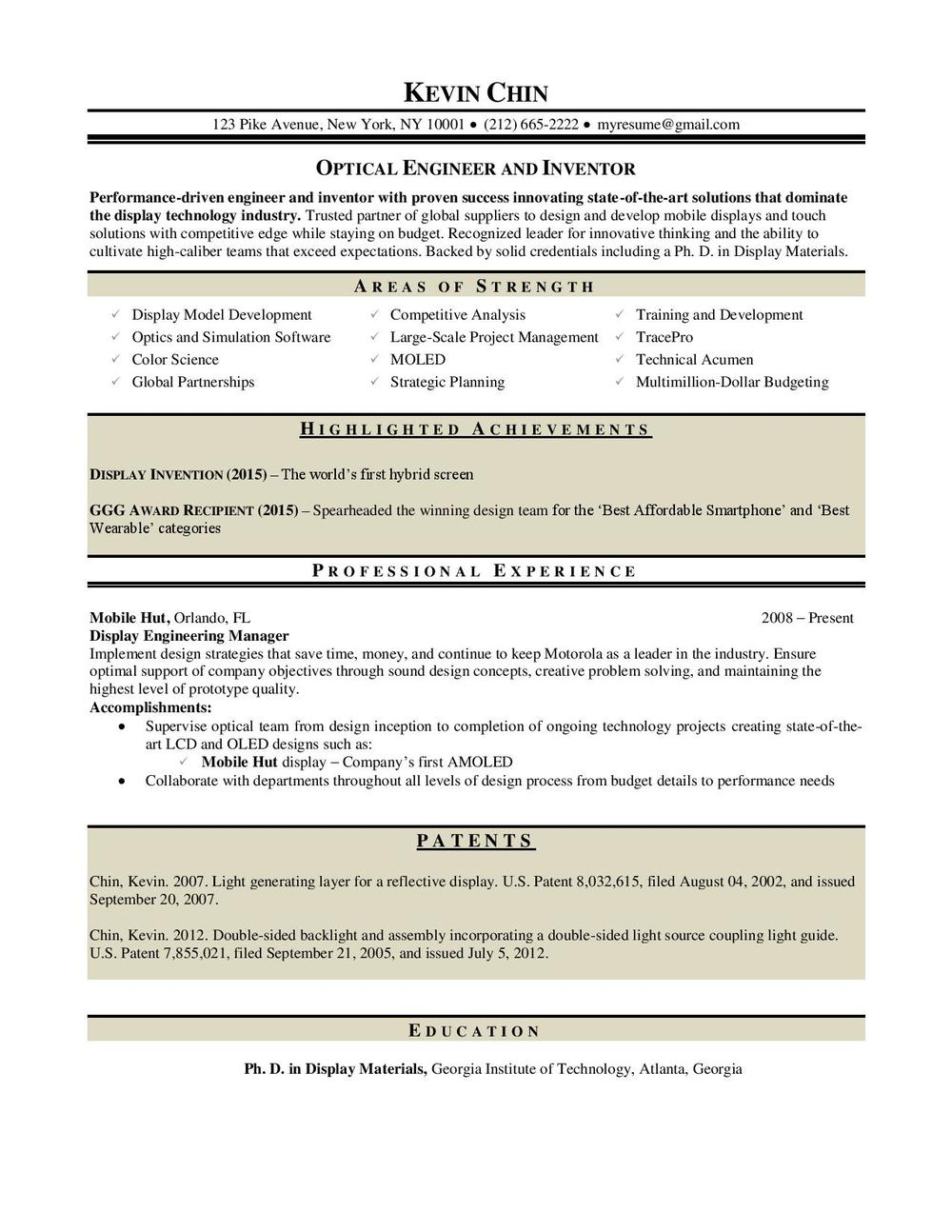 resume writer atlanta