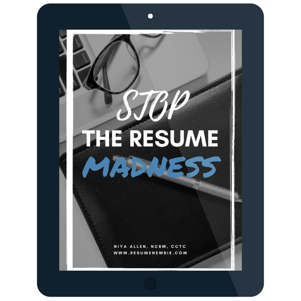 Stop The Resume Madness Free eBook