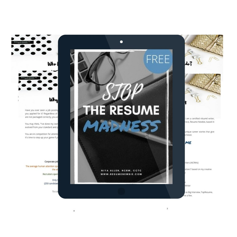 Resume Newbie Certified Professional Resume Writing Services In