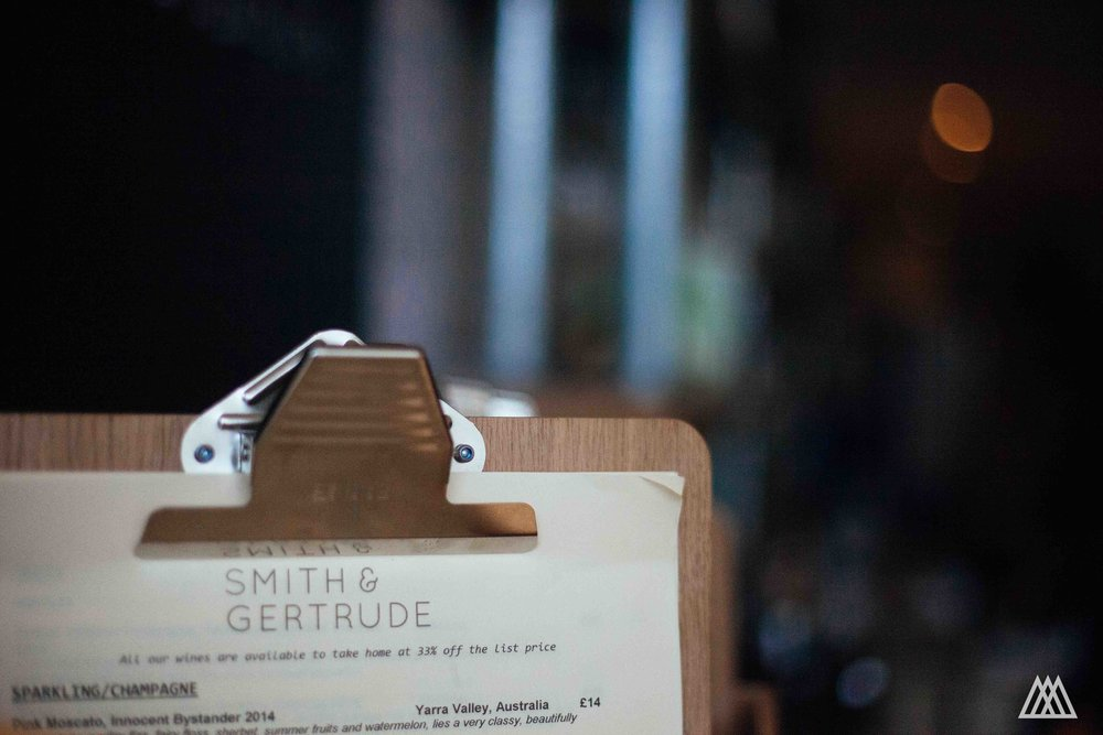 Smith & Gertrude wine bar